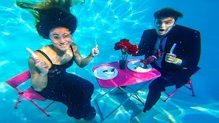 UNDERWATER DATE WITH MY CRUSH!! ❤️