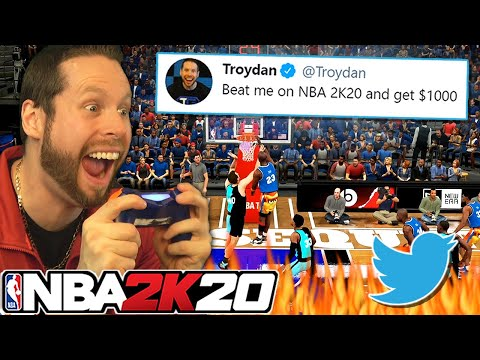 I challenged Twitter on NBA 2K20 for $1000