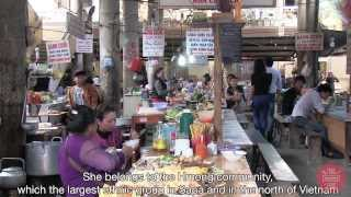 Food Sweet Food in Vietnam : lunch in a Hmong minority (Sapa, north Vietnam)