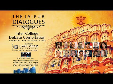 """Watch LIVE -""""The Jaipur Dialogues"""" - Inter College Debate Competition"""