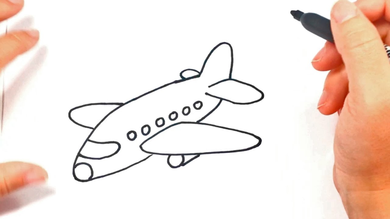 How To Draw A Airplane For Kids Airplane Easy Draw Tutorial