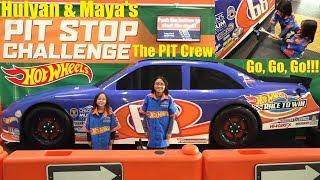 Hot Wheels RACING PIT STOP Challenge! Hot Wheels Museum. Kids