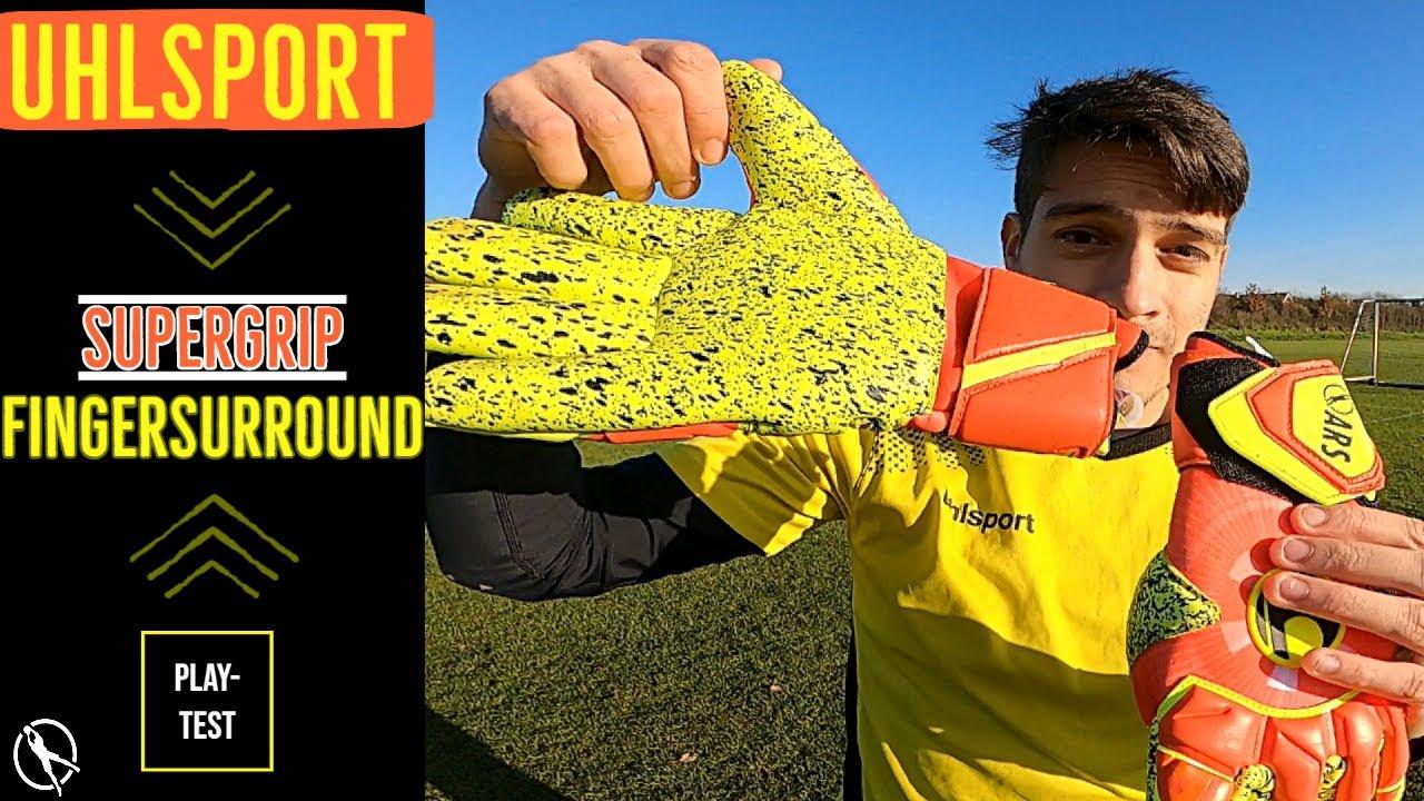 Safest Goalkeeper Glove Ever? Uhlsport SuperGrip Finger Surround Glove Review & Play-Test
