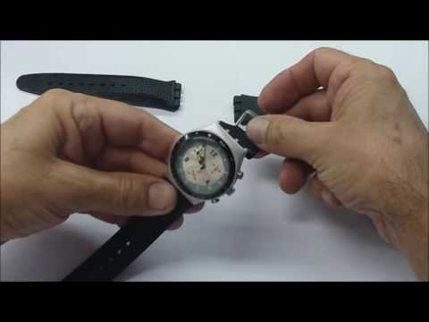 f853be0ca27 Pulseira Borracha para Swatch - YouTube