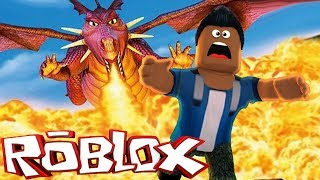 ROBLOX-ESCAPE from the GIANT DRAGON!!