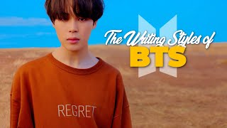 The Writing Styles of BTS