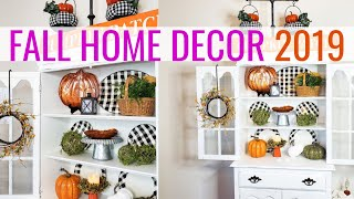 Fall Decor 2019 🎃| Fall Farmhouse Glam Hutch |  Cook Clean And Repeat