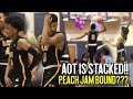 AOT IS COMING FOR THE PEACH JAM    AAU Super Team Is LOADED With Talent   Final 4 Tip Off Highlights