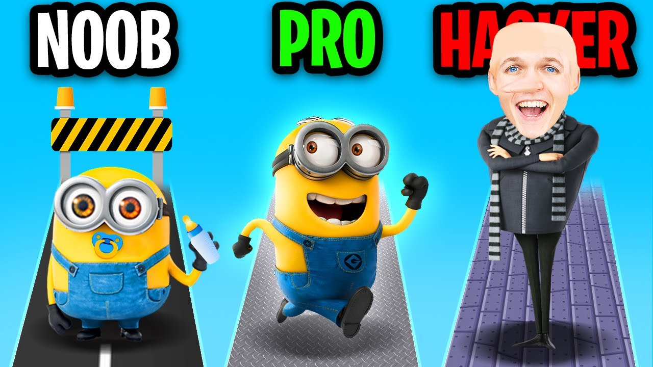 NOOB vs PRO vs HACKER In MINION RUSH! (ALL LEVELS GAMEPLAY!)