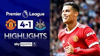 Ronaldo scores TWICE on Utd homecoming!