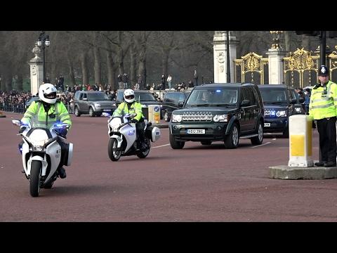 Benjamin Netanyahu Motorcade London