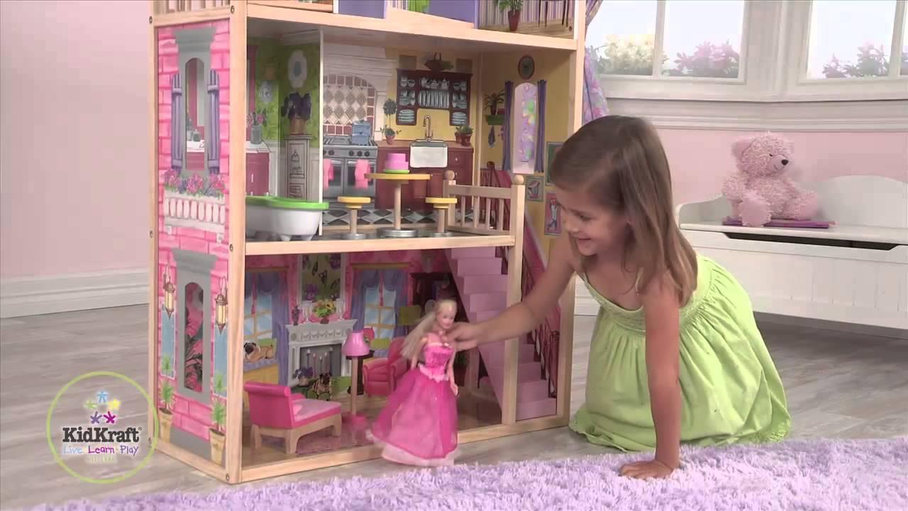 maison de poup es kayla en bois kidkraft youtube. Black Bedroom Furniture Sets. Home Design Ideas