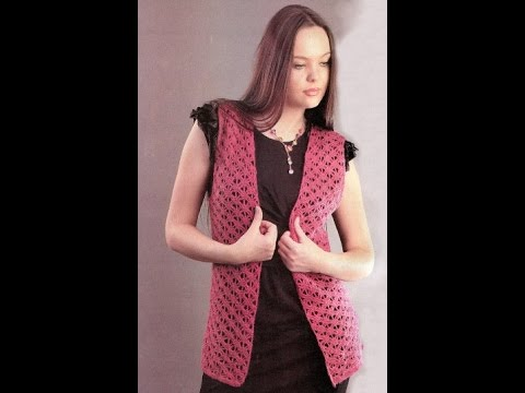 Вязаный ЖИЛЕТ Крючком - 2019 / Crocheted Vest Hook / Gehäkelte Weste Haken