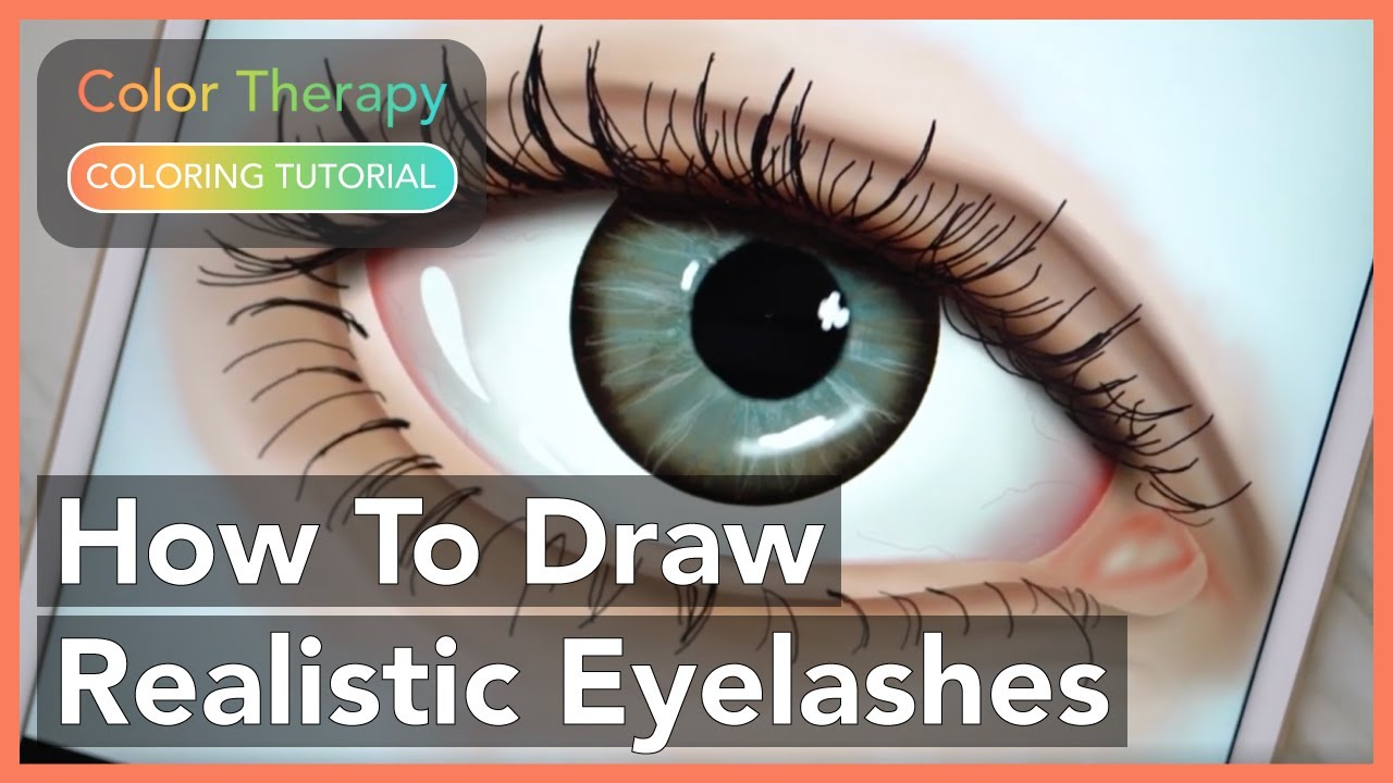 Cool Coloring tutorial: How to draw Hyper Realistic Eyelashes with ...