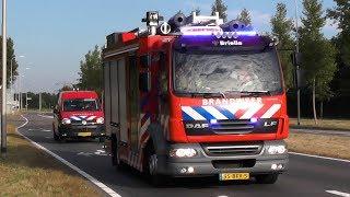 Brandweer Brielle met hoge spoed naar brand in Oostvoorne