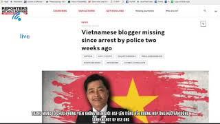 Phóng viên Không Biên giới lên tiếng về trường hợp blogger Ngô Văn Dũng mất tích