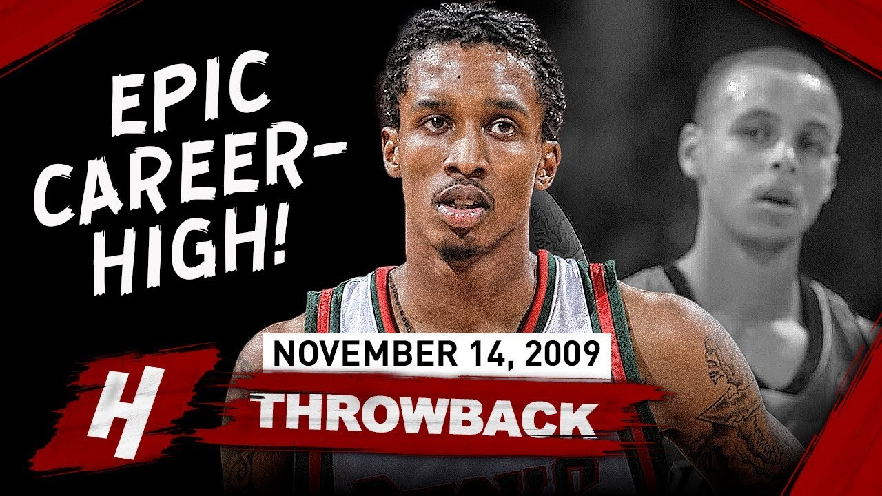 eb7c19200cd Brandon Jennings EPIC Career-HIGH Full Highlights vs Warriors 2009.11.14 -  55 Pts in front of Curry!
