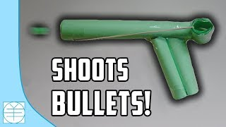 How To Make A Paper Gun That Shoots Paper Bullets. (Easy) (HD)