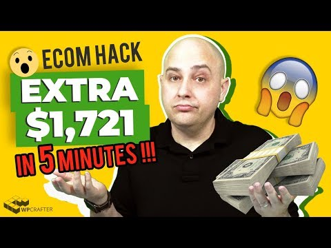 How I Made An Extra $1,721 This Month With 1 Little Known Ecom Hack, 5 Minutes, & No Money