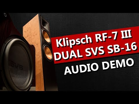 Klipsch RF-7 III and Dual SVS SB-16 Subwoofers - Audio Demo