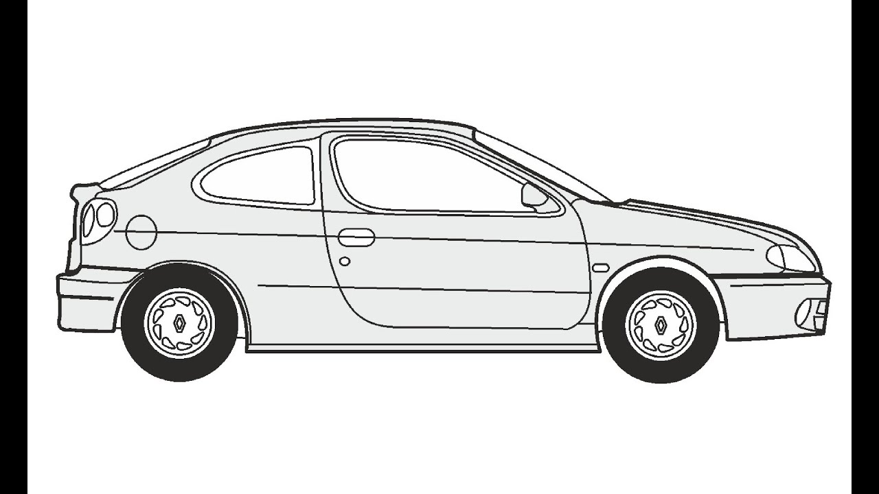 How to Draw a Renault Megane Coupe / Как нарисовать