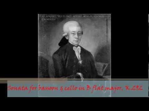 W. A. Mozart - KV 292 (196c) - Sonata for bassoon & cello in B flat major