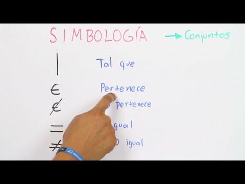Simbología en conjuntosos