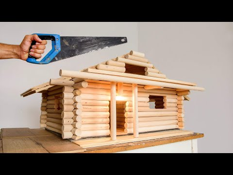 Traditional Model Wood House Building Process