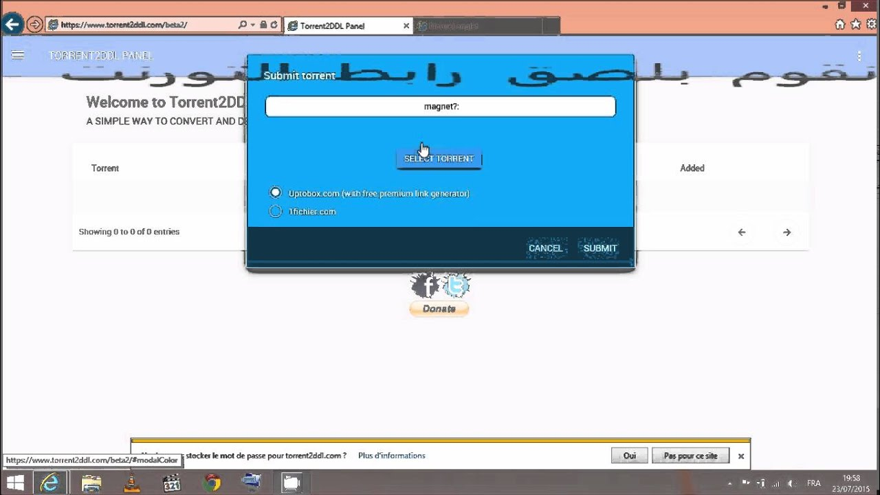 convert 20 gb torrent file to direct link idm