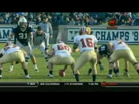 "Huge hit by Travis ""the hitman"" Henry at Yale Harvard football game 2009"