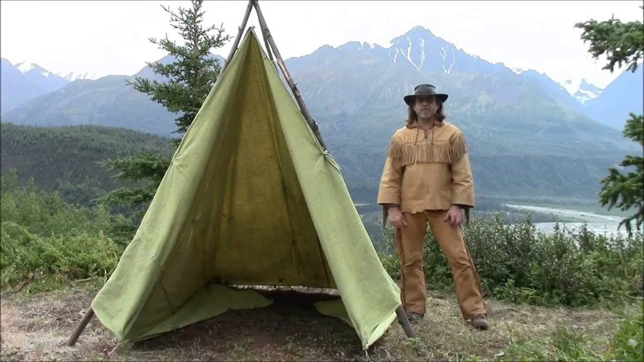 Making A Tent From A Tarp - YouTube