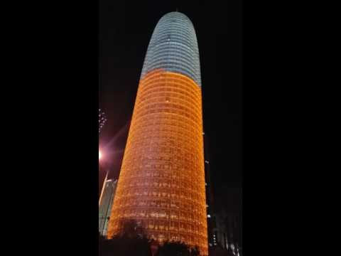 Doha condom tower at night .......