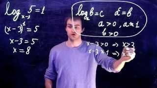 Задание 5 (Логарифмы). ЕГЭ по математике. Пример 1