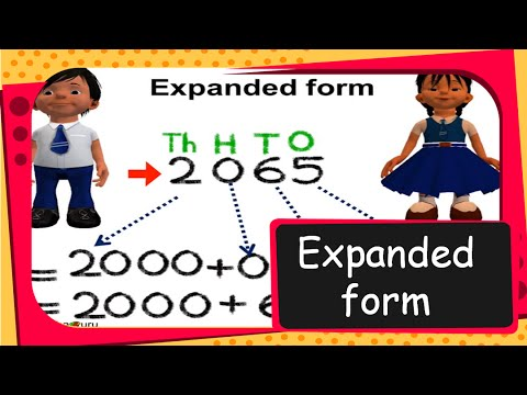 Maths - How to find Expanded Form of a number - Part 1 - English