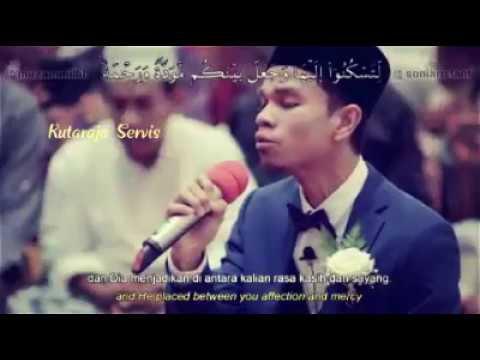 Muzammil Hasballah Lantunkan Quran surah Ar-Rum (30): 21 Di Hari Pernikahannya