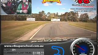 Boy gives V8 Supercar a flogging