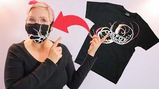 Mundschutz aus T-Shirt selber machen (nähen ohne Nähmaschine)