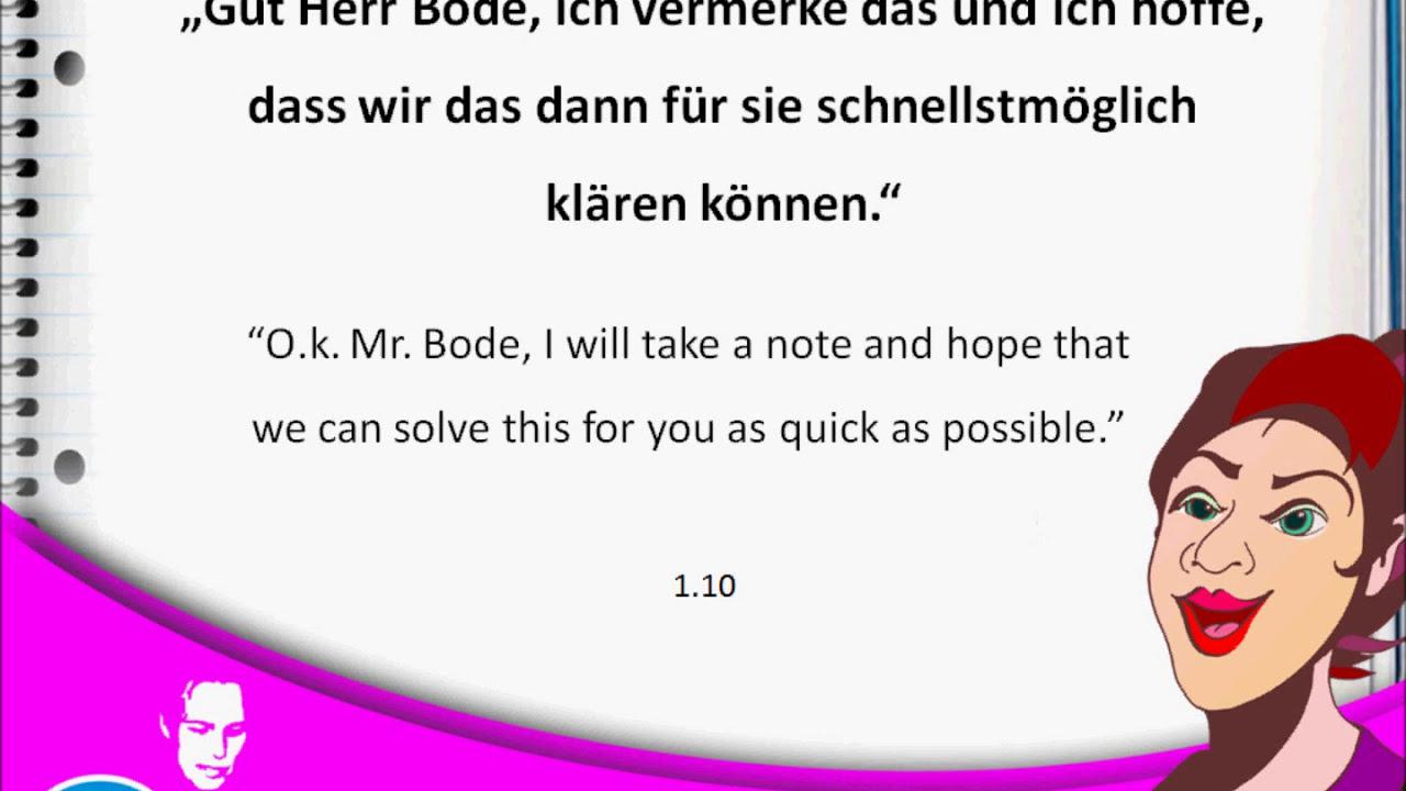 Complaint Deutsch