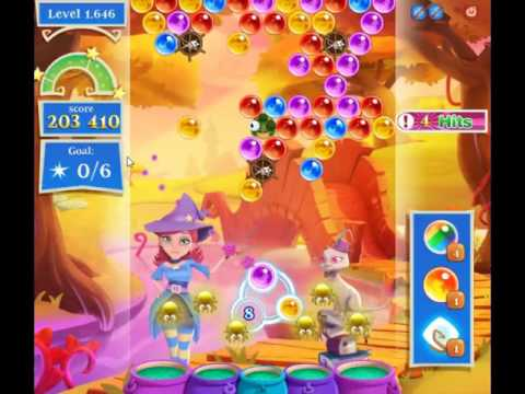 Bubble Witch Saga 2 Level 1646 - NO BOOSTERS (CLOSER TO PAY2WIN-VERSION)