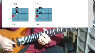 [재즈기타 연습 6] 기본코드 폼6 (4번줄 루트 하프…