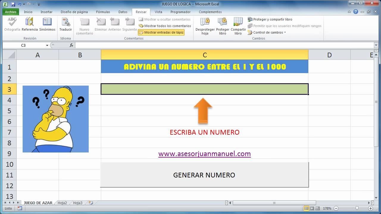 Tutorial Excel Juego De Logica Funcion Si Aleatorio Macros Búsqueda Binaria Youtube