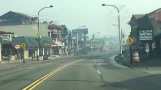 driving through downtown gatlinburg after the fire