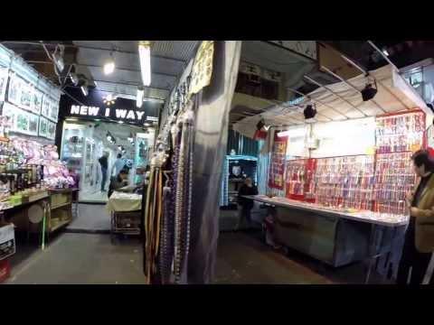 【Hong Kong Walk Tour】 Temple Street - the night market street