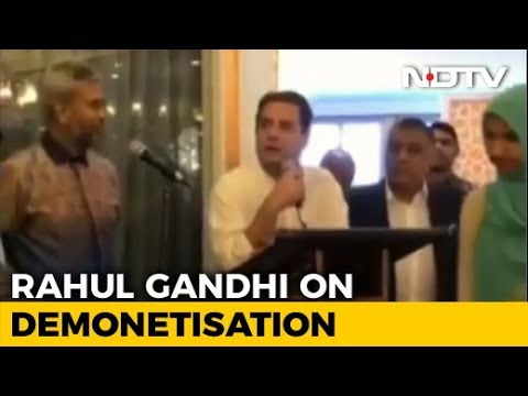 """If I Was Prime Minister..."": Rahul Gandhi On Notes Ban In Malaysia"