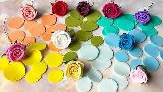 МК Розы из фоамирана за 5 минут Как сделать розу из фоамирана легко и просто DIY flower rose