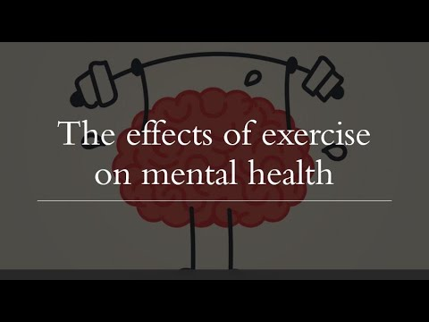 The effects of exercise on mental illness