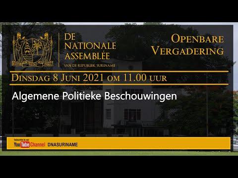 15 Juni 2021 -  OPENBARE VERGADERING VAN DE NATIONALE ASSEMBLEE