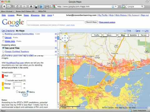 Google Maps Sea Level Rise YouTube - Google maps sea level
