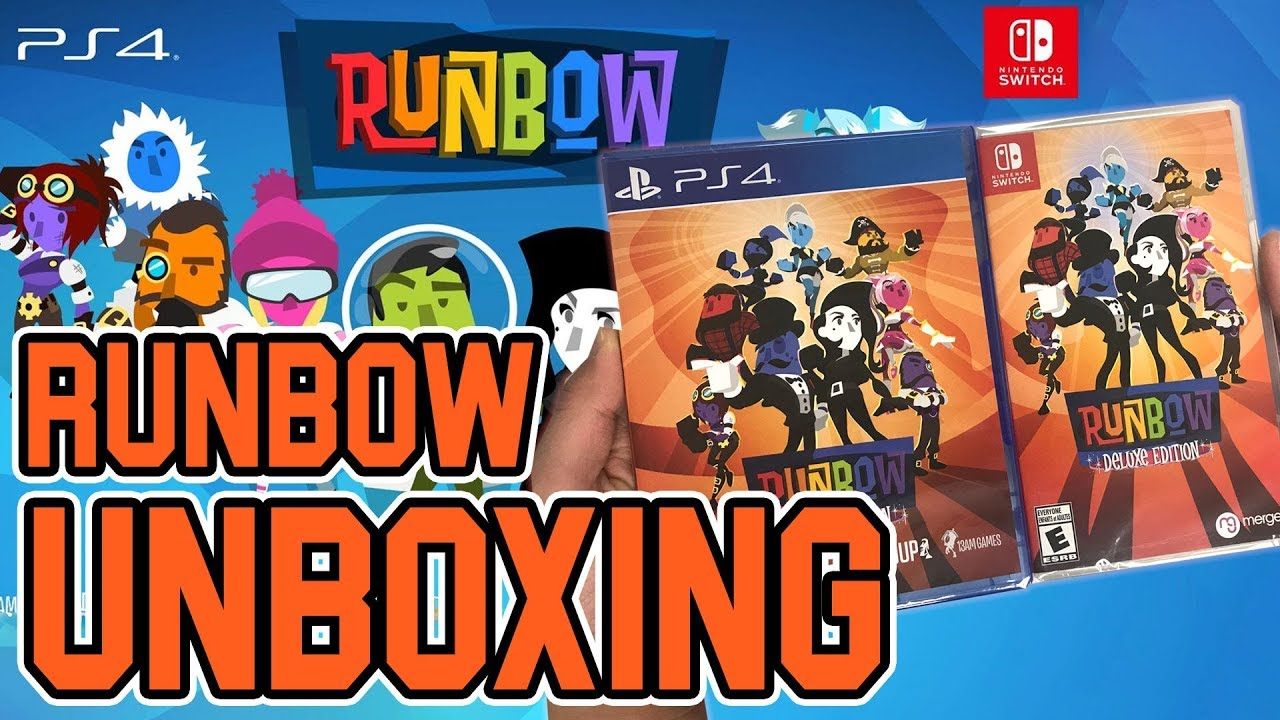 Runbow Deluxe Edition (PS4/Switch) Unboxing!!