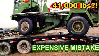 This Monstrous Military TRUCK FELL OFF My trailer?!?